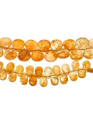 Faceted Yellow Jade Briolette