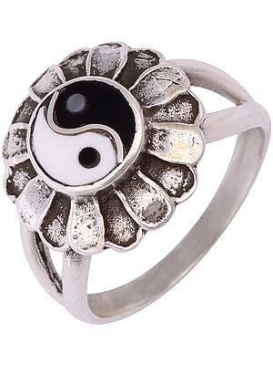 Sterling Yin Yang Ring