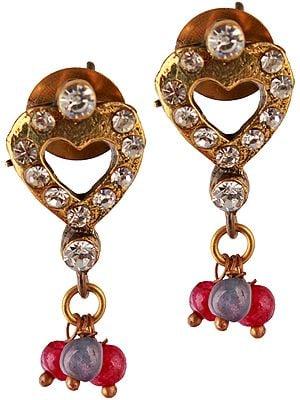 Victorian Valentine Post Earrings