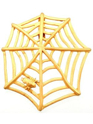 Sterling Gold Plated Spider's Web Pendant