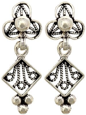 Sterling Earrings with Knotted Rope