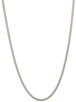 Sterling Chain Necklace with Spring Lock