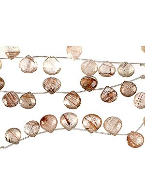 Faceted Rutilated Quartz Briolette