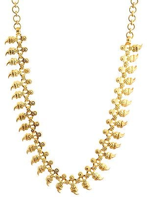 Sterling Gold Plated Vegetative Necklace