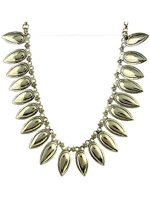 Champakali Silver Necklace