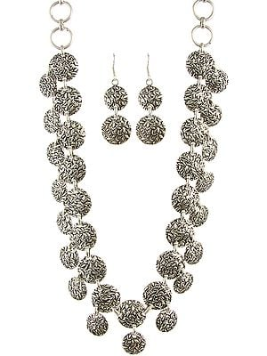 Silver Necklace: Patterned like a Traditional Taka-Har