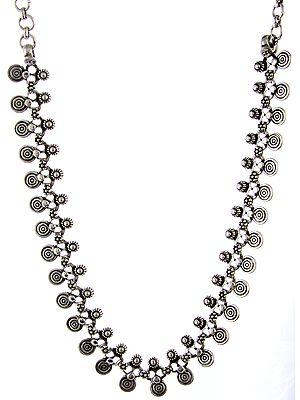 Sterling Spiral Necklace