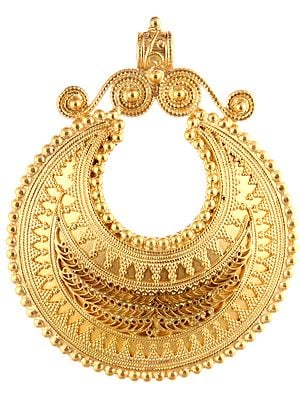 Sterling Gold Plated Finely Crafted Pendant