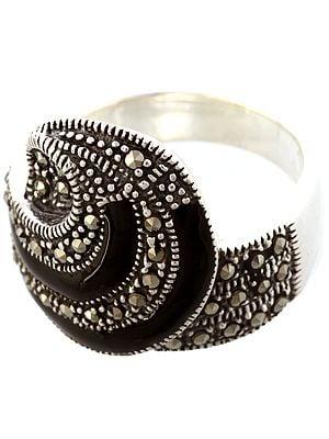 Black Marcasite Ring