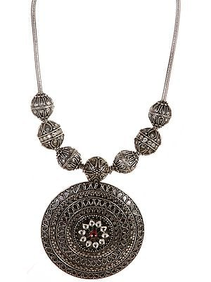 Sterling Necklace with Large Pendant