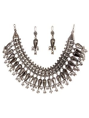 Lord Krishna's Protective Arrow (Necklace and Earrings Set)