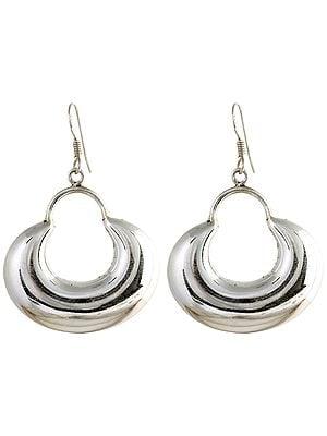 Sterling Crescent Earrings
