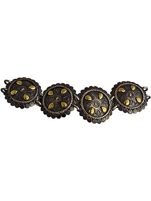 Sterling Ethnic Bracelet with Toggle Lock