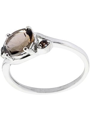 Faceted Smoky Quartz Ring