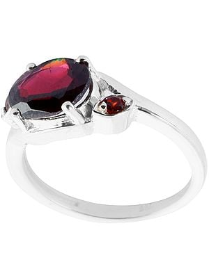 Faceted Garnet Ring