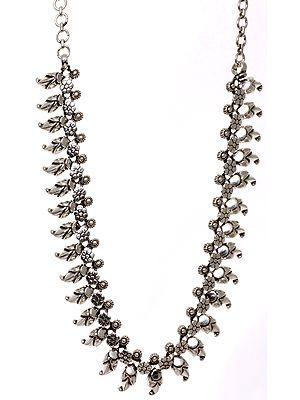 Sterling Vegetative Necklace