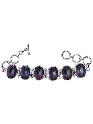 Mystic Topaz Bracelet with Toggle Lock
