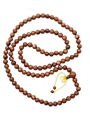 Sunstone Mala (Rosary) of 108 Beads for Chanting
