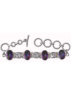 Mystic Topaz Bracelet with Lattice