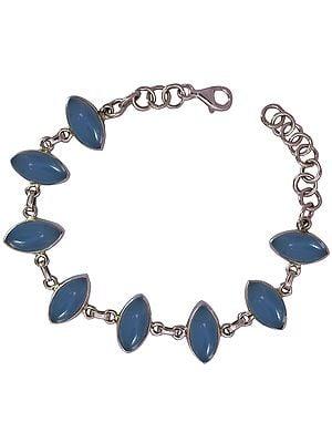 Blue Chalcedony Marquis Bracelet