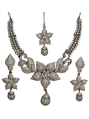 Floral Necklace Set with Tika