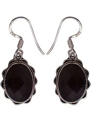 Faceted Black Spinel Earrings
