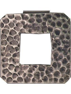 Sterling Dimple Frame Pendant