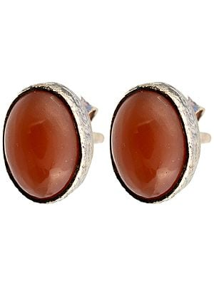 Carnelian Post Earrings