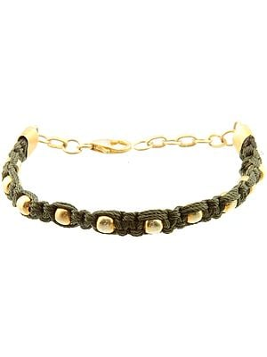 Sterling Gold Plated Cord Bracelet