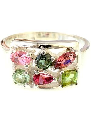 Faceted Tourmaline Ring