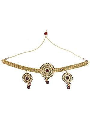 Flower Choker Necklace Set