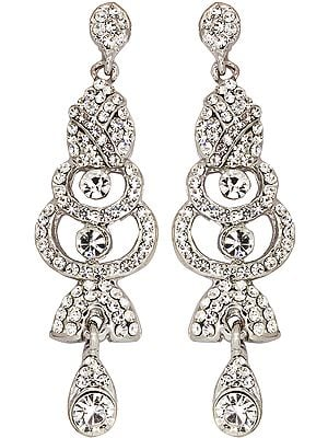 Designer Faux Crystal Earrings