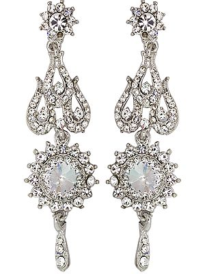 Faux Crystal Designer Earrings