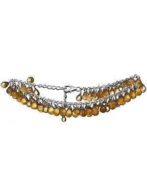 Faceted Citrine Bunch Bracelet