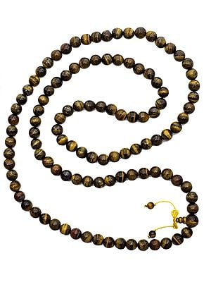 Tiger Eye Mala (Rosary) of 108 Beads for Chanting