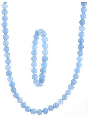 Sky Blue Necklace and Stretch Bracelet Set