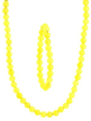 Yellow Necklace and Stretch Bracelet Set