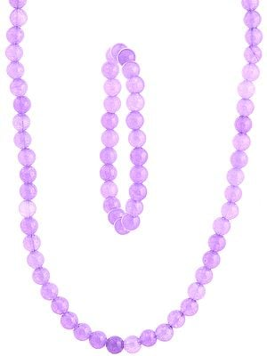 Light Purple Necklace and Stretch Bracelet Set