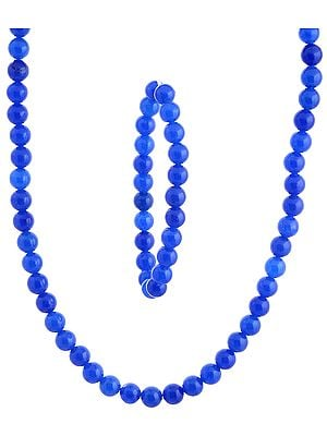 Blue Necklace and Stretch Bracelet Set