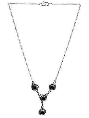 Sterling Necklace with Gems