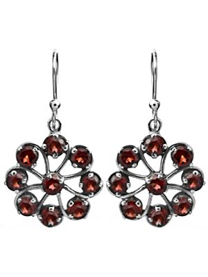 Sterling Chakra Earrings with Faceted Gems