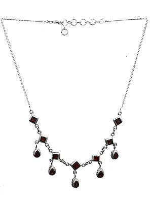 Faceted Garnet Necklace