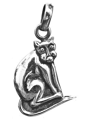 Sterling Cat Pendant