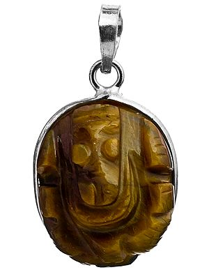 Lord Ganesha Pendant (Carved in Tiger Eye)