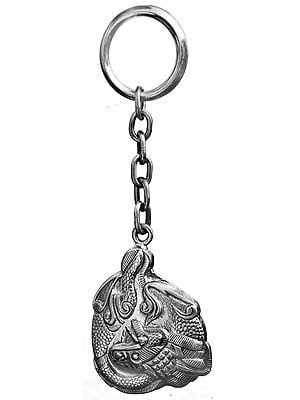 Sterling Draggon Key Ring