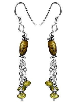 Labradorite with Peridot Earrings