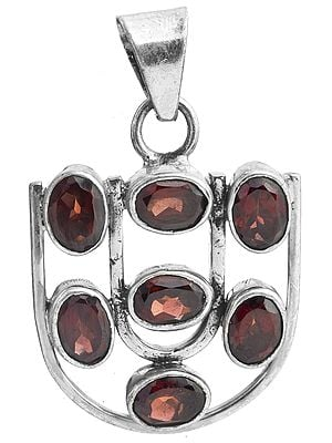 Faceted Garnet Pendant