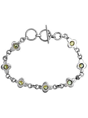 Faceted Peridot Bracelet