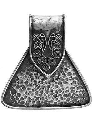 Sterling Antiquated Dimple Pendant