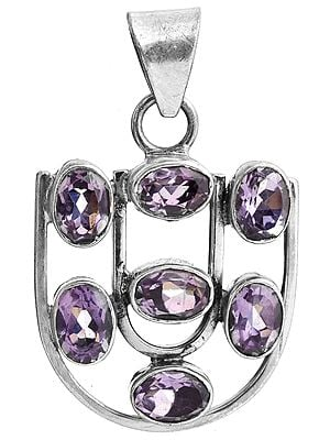 Faceted Amethyst Pendant